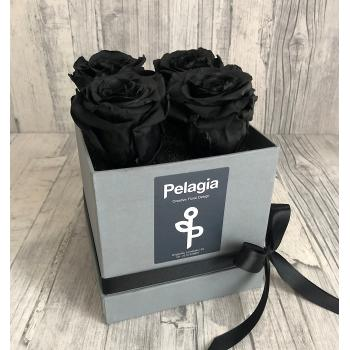 Forever Rose black in a box 4 pieces