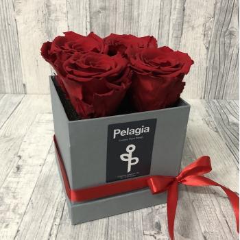 Τριαντάφυλλο  forever κόκκινο κουτί 4 τεμάχια.