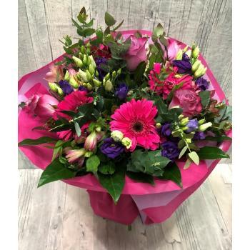 Bouquet pink dark lilac
