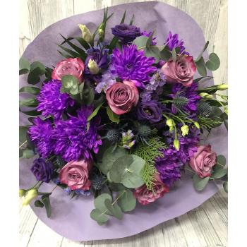 Bouquet with purple colors