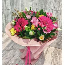 Spring colorful aromatic bouquet