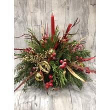 Christmas arrangement gold-red