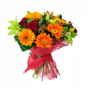 Bouquet orange red