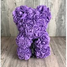 Lilac rose bear