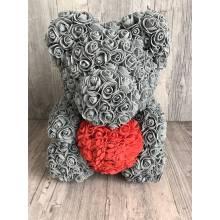 Grey  rose bear large