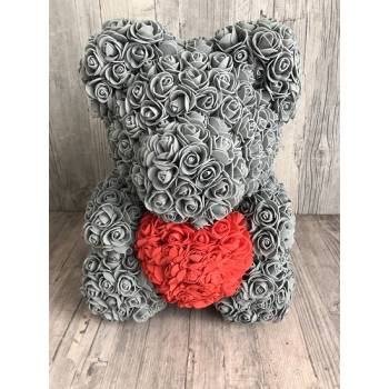 Grey  rose bear large
