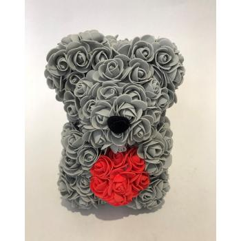 Grey  rose bear