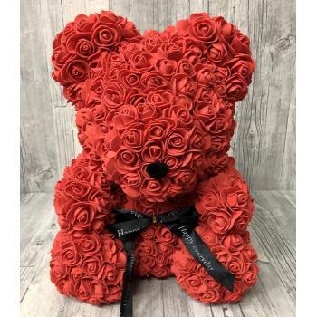 Red Rose Bear large
